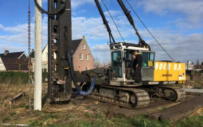Start bouw vrijstaande villa te Groot-Ammers