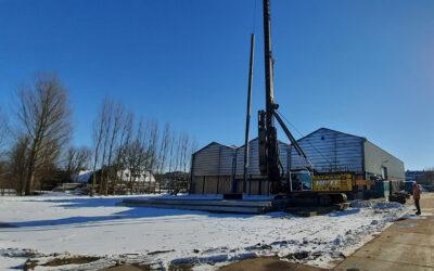 Start bouw uitbreiding bedrijfshal te H-veld G-dam