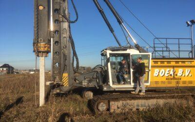Start bouw villa Haarweg te Gorinchem