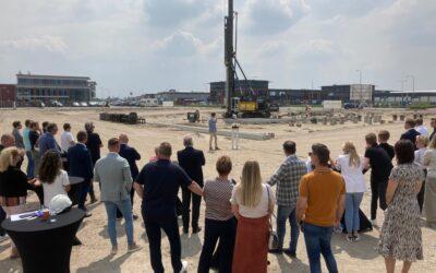 Start bouw project Waterbusplein
