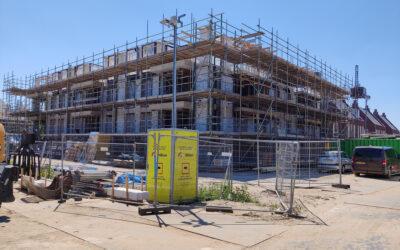 Voortgang bouw 23 appartementen de Residentie